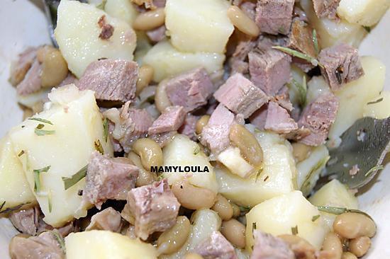 recette de flageolets gigot d 39 agneau en salade. Black Bedroom Furniture Sets. Home Design Ideas