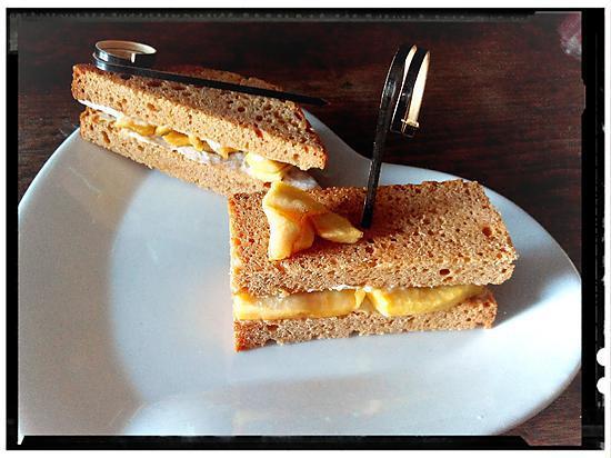 recette casse croûte de pain d'épice aux pommes fondantes