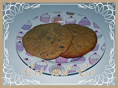 recette Cookies chocolat au lait, noisettes et pépites de chocolat