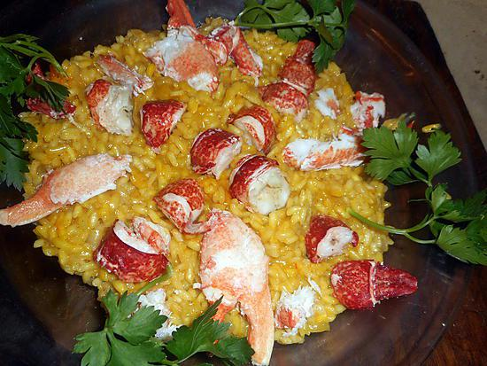 recette Risotto de homard