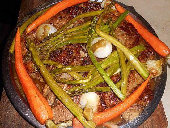 recette Tendrons de veau aux asperges vertes