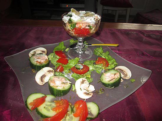 Recette d 39 assiette crudit s reste de saumon for Entree crudite originale