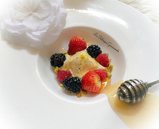 recette Semifreddo à La fleur d'Oranger Miel et Pistaches