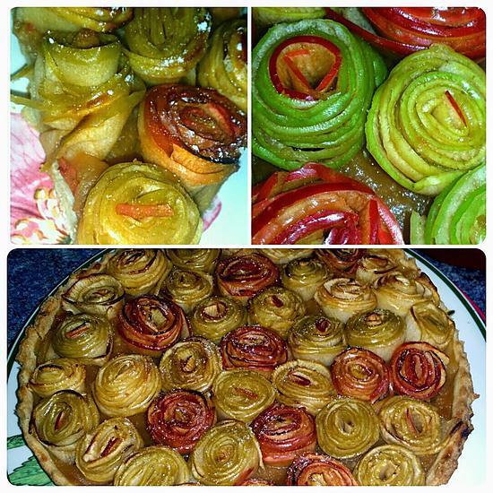Recettes Tarte Aux Pommes: Recette De Tarte Aux Pommes Bouquet De Roses Par Catalina