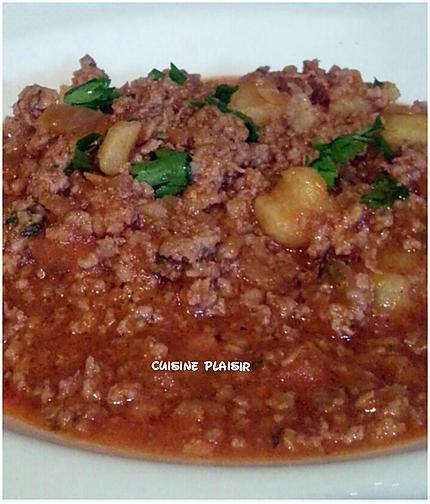 recette Hachis Pdt en sauce, aux épices d'ailleurs