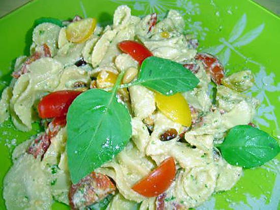 recette Salade de pâtes au basilic