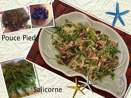 recette Salade de pouc-pied et salicorne