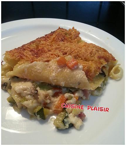 recette Lasagnes aux légumes, sauce béchamel