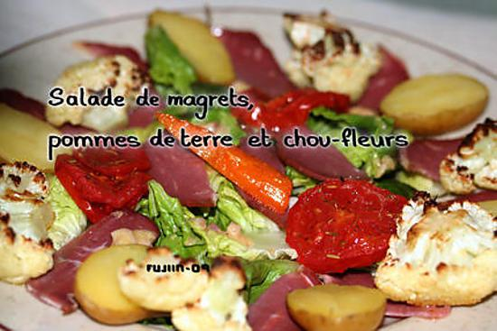 Recette de Salade de Magrets, pommes de terre et chou-fleurs