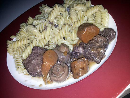 Recette de saut de porc bourguignon campagnard - Saute de porc cocotte minute ...