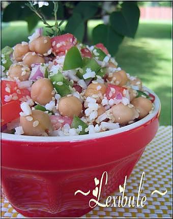 recette Salade de riz et pois chiches