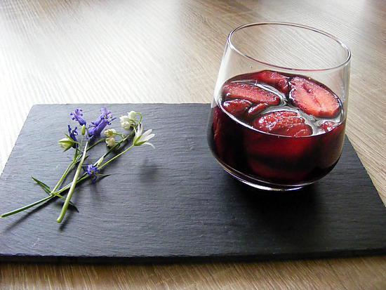recette Soupe de fraises au vin