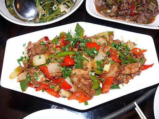 recette Porc au poivron façon sichuan