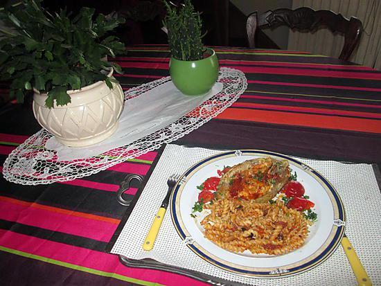 recette agneau  gratinée chorizo     rapé