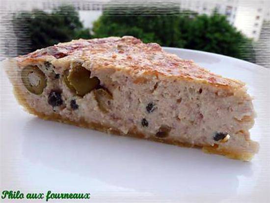 recette de quiche au thon aux olives aux c pres. Black Bedroom Furniture Sets. Home Design Ideas