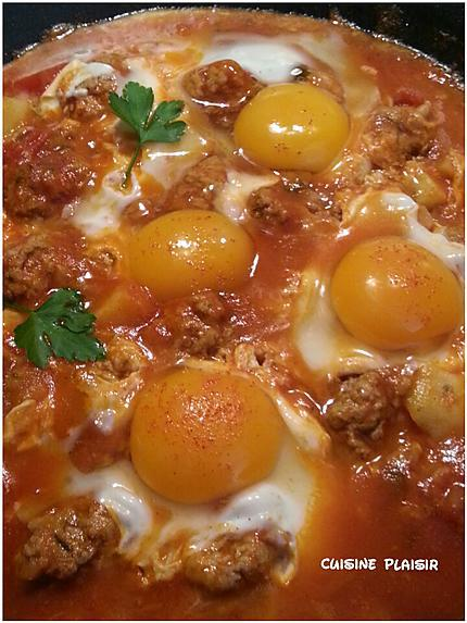 recette Tajine de Kefta aux oeufs et pdt