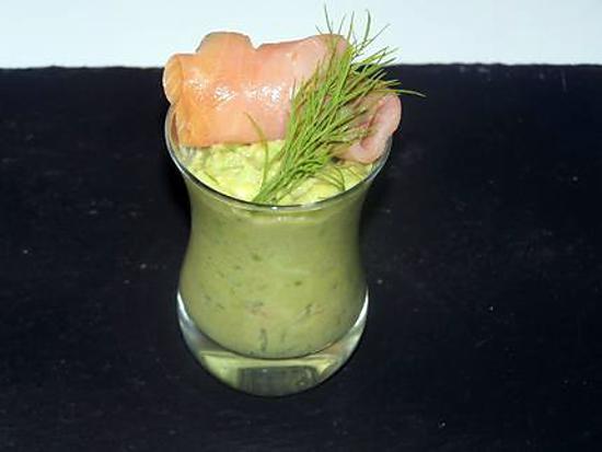 recette Verrine d'avocat au saumon