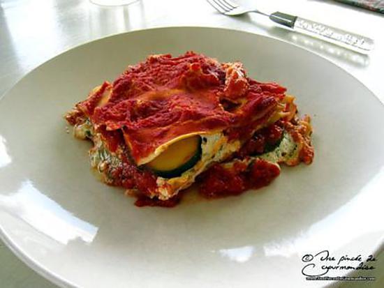 recette Lasagnes à la brousse et à la courgette