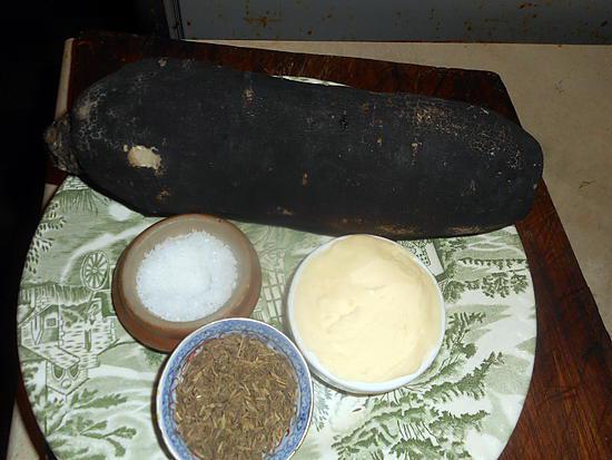 recette Radis noir a la fleurs de sel et au cumin