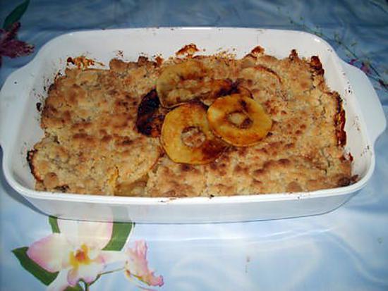 recette Crumble mirabelles/pommes caramélisées