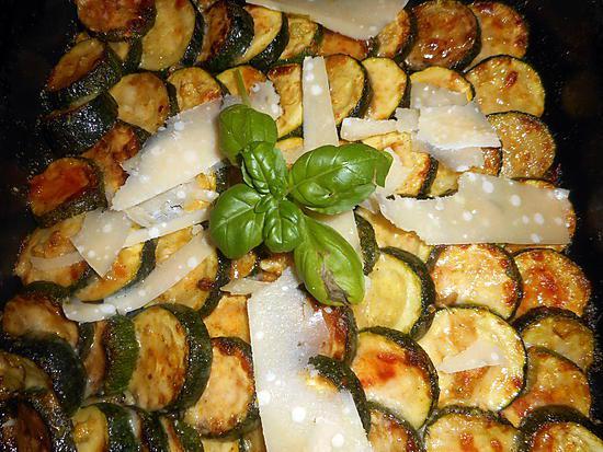 recette Gratin de courgettes parmigiano