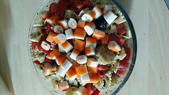 recette La salade de pâtes du placard