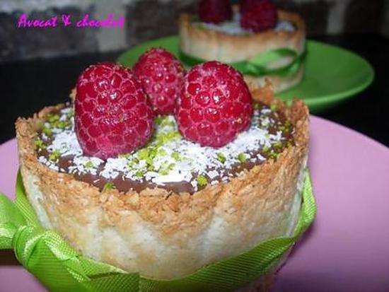 """recette EXTRA ce Gâteau au chocolat façon """"Bavarois""""  en coque de noix de coco  **"""