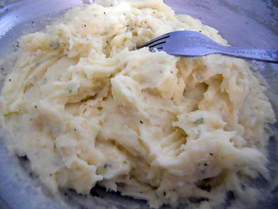 recette Purée de pomme de terre au boursin