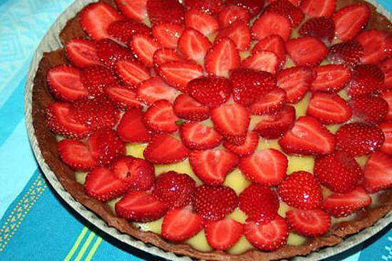 recette Tarte aux fraises et au lemon curd