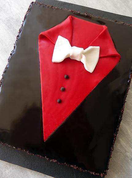recette Gâteau au chocolat « smoking » spécial fête des pères