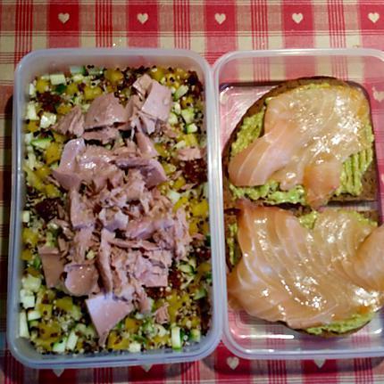 recette Salade et tartines Fit pour midi