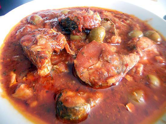 recette Muge a la tomate et olive d'ITALMO