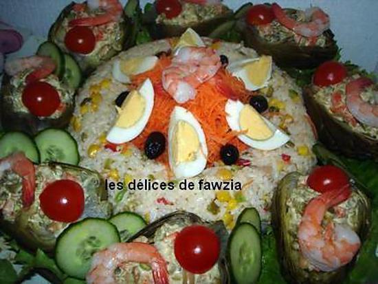 Recette de salade vari e for Decoration de plat avec des legumes