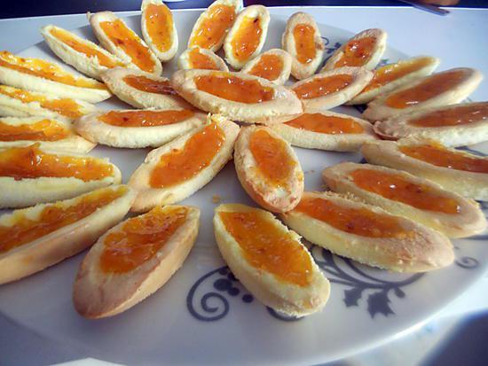 recette Barquettes a la confiture d'abricot