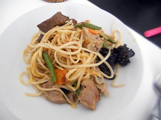 recette Wok de nouilles sauce satay