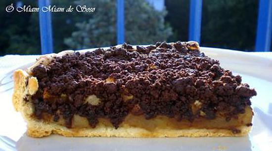 recette de tarte aux pommes speculoos crumble chocolat. Black Bedroom Furniture Sets. Home Design Ideas