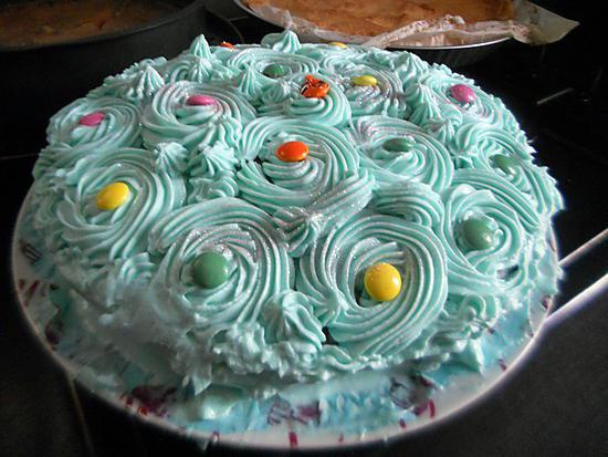 recette Gâteau fleur bleue anniversaire Tonton