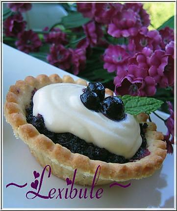 recette Tartelettes aux bleuets et au sucre à la crème