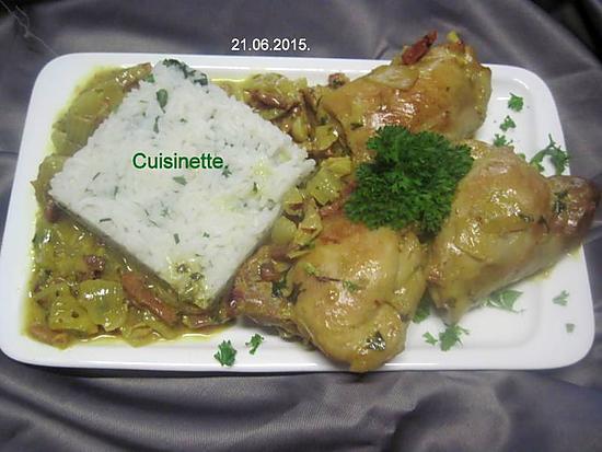Recette de cuisses de poulet au curcuma par cuisinette - Cuisse de poulet au vin blanc ...
