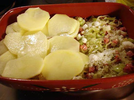 recette Gratin de pommes de terre et poireaux