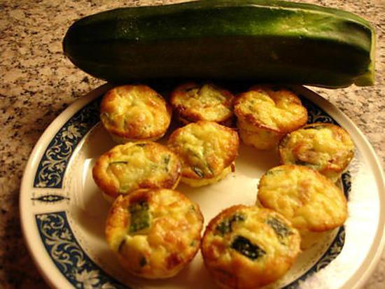 recette Mini flan de Courgette ( jambon)
