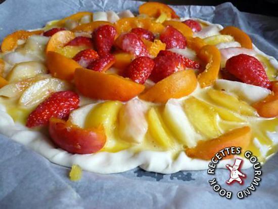 recette Pizza sucrée aux fruits d'été
