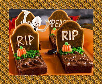recette de brownies halloween pierre tombale. Black Bedroom Furniture Sets. Home Design Ideas