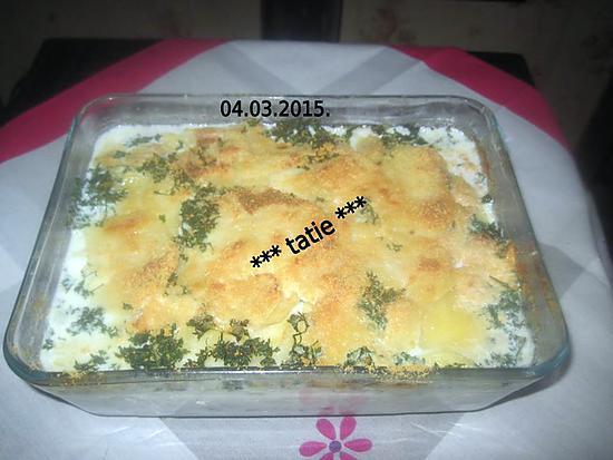 recette gratin de pommes de terre aux lardons fumés.