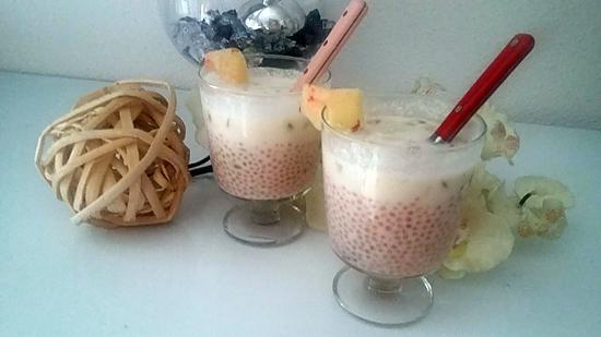 recette Lait de coco aux perles de tapioca fruit de la passion peche