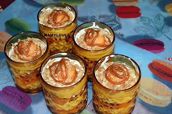recette Tiramisu au melon et caramel beurre salé