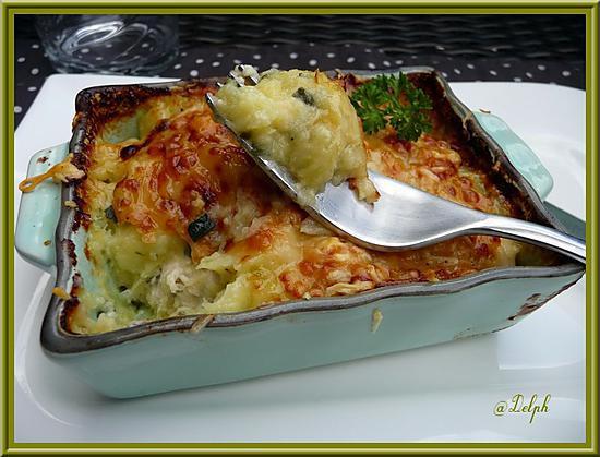 Recette de hachis parmentier poulet courgettes - Hachis parmentier maison pour 2 personnes ...