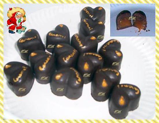 Recette De Chocolat Fourre Creme Caramel Carambar Par Pascaleregal