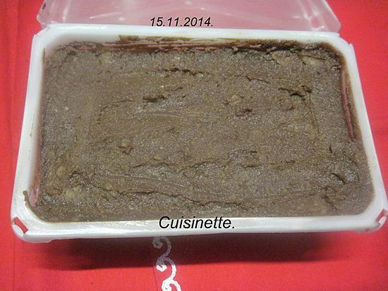 recette Purée de marron au chocolat et de noix.