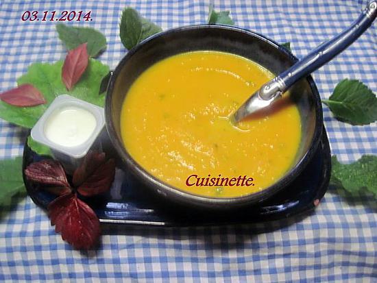 recette de soupe la citrouille et carottes. Black Bedroom Furniture Sets. Home Design Ideas